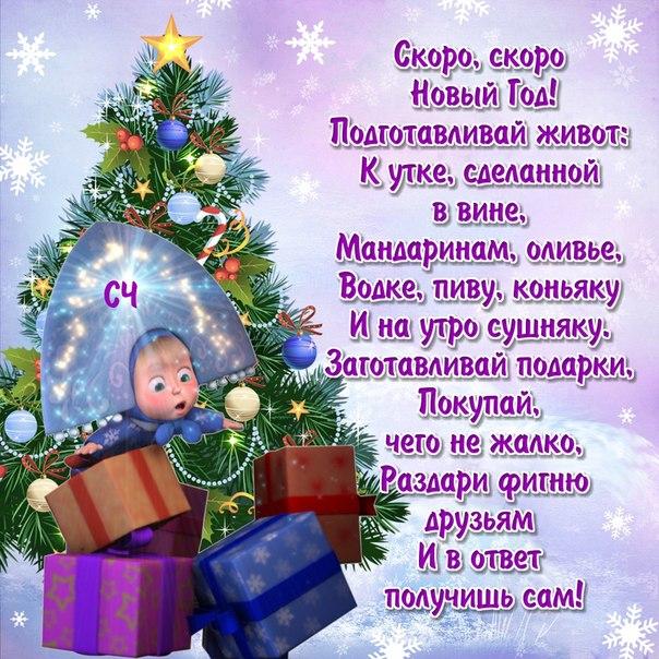 Поздравление прикольное на новый год в прозе
